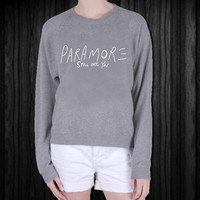 Paramore screenprint sweatshirt, sweater, made from mix polyester cotton, available size S - 3XL