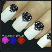 Nail Decal Lace Nail Art 20 Water Slide Decals Fingernail Decals Nail Tattoo Transfer
