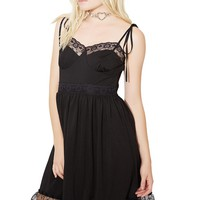 Midnight Cutie Chaser Lacy Dress