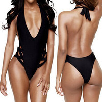 Women Sexy One-Piece Swimwear High Cut Monokini Backless Swimsuit Bikini = 1956428100