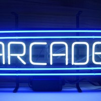 New ARCADE Game Room Real Glass Neon Light Sign Home Beer Bar Pub Sign L33