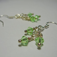 Simply Swarovski Earrings (light green)