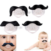New Funny Mustache Baby Boy Girl Child Dummy Pacifier Orthodontic Nipples Beard = 1946529668