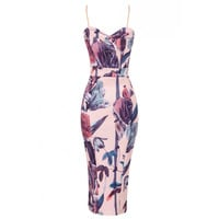Kassie Midi Dress Blush