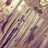 Single Bed Canopy Crown - Stars Canopy - Gypsy Nursery Decor - Crib Mobile Canopy - Boho Bedroom - Bohemian Bedding - Made to Order