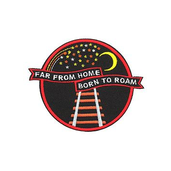 Born To Roam Travelers Crest Patch