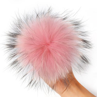 Real Nature Raccoon Fur Pompon Keychain With Button Soft Fox Fur Ball Pompoms Hanging Car Bag Hat Glove Key Holder Fur Pom Poms