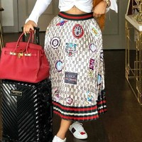 GUCCI Newest Fashion Women Letter Print Skirt