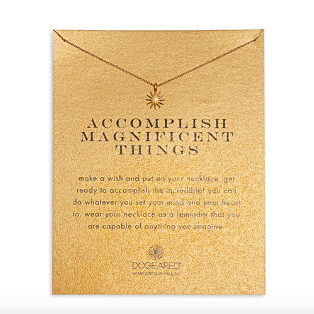 Image of Dogeared - Accomplish Magnificent Things Starburst Necklace, Gold Dipped