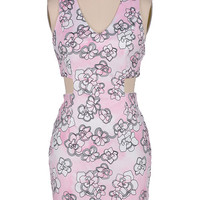 Cupshe The Fall Floral Cutout Bodycon Dress