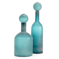 Z Gallerie - Vesuvius Bottles - Teal