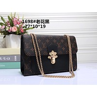LV Louis Vuitton Women Fashion Leather Satchel Tote Shoulder Bag Handbag size:27*10*19