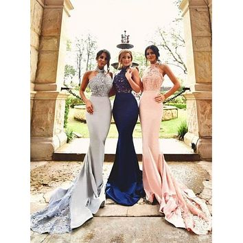 Mermaid Prom Dress, Bridesmaid Dresses, Graduation School Party Dress, Winter Formal Dress, DT0061