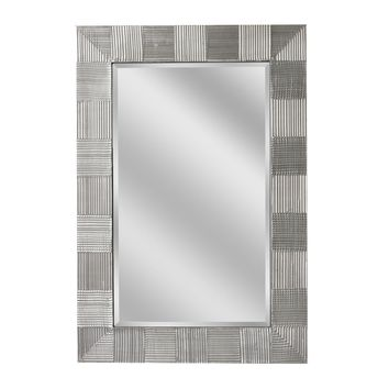 Crosshatch Raking Satin Nickel Wall Mirror (1064) - Illuminada