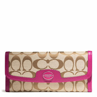 LEGACY SOFT WALLET IN SIGNATURE FABRIC