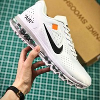 Off White X Nike Air Max 2019 White Sport Running Shoes - Best Online Sale