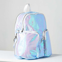 Jina Metallic Crinkle Backpack | Urban Outfitters