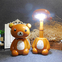 Rechargeable Folding Night Light Student Bedside Lamp Small Gifts Small Children Cartoon Table Lamp Printing