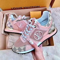 LV Louis Vuitton RUN AWAY SNEAKER Woman Men Fashion Casual Sneakers Sport Shoes