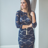 Sound of Music Bridesmaid Dress in Navy