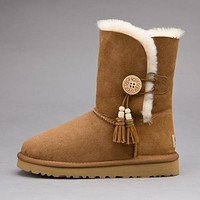 UGG Fashion Women Fur Wool Snow Boots Short Boots Shoes