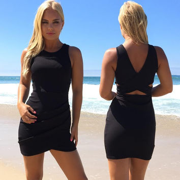 Dreaming Bodycon Dress In Black
