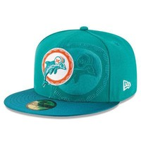 Miami Dolphins New Era 59FIFTY NFL On Field Sideline Fitted Cap 5950 Hat Retro