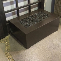 2 Foot x 3 Foot Rectangular You-Design-It Custom Made Fire Pit Table