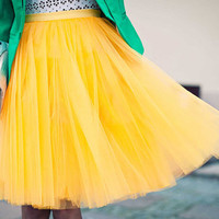Yellow tutu tulle skirt for adults, petitcoat, adult tulle skirt , yellow tutu skirt