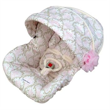 Infant Car Seat Cover in Baby Hannah