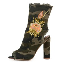 Women's Connie-53 Green Booties