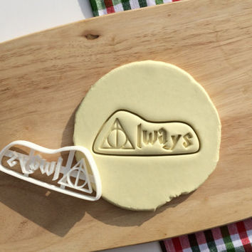 Always Harry Potter Cookie Cutter HP Cookie Cutter Cupcake topper Fondant Gingerbread Cutters Solemnly Mischief Cookie Cutter