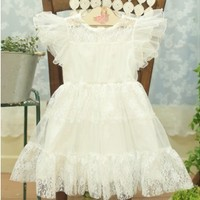 Vintage Inspired Girls Clothes white dress for baby girls | Vindie Baby