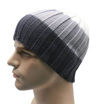 TZ#5/22 Winter Unisex Women Men Knit Ski Crochet Slouch Hat Cap Beanie Hip-Hop Hat Solid Free Shipping