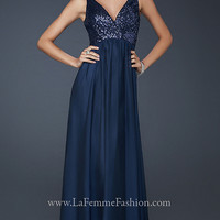 Sleeveless Evening Gown by La Femme