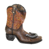 Lucky Cowboy Boot Wine Bottle Holder