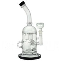 "11"" Stemless + Showerhead + 3 Klein Recyclers + 3 Barrel Showerheads + Bent Neck + Color. Water Pipe"