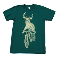 Deer on a Bicycle T-Shirt