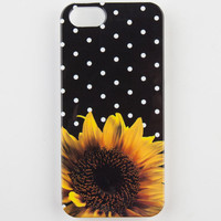 Sunflower Dots Iphone 5/5S Case Black Combo One Size For Women 23233414901