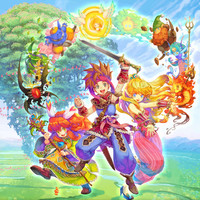 Secret of Mana Elemental Spirits video game poster