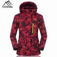 New Ski Jacket Women Snowboard Jacket Waterproof Breathable Skiing Snowboarding Super Warm Jackets Colorful Pattern Female Coats