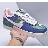 Nike WMNS Air Force 1 Shadow x Louis Vuitton Men's and Women's Colorblock Print Letter Low-Top Sneakers