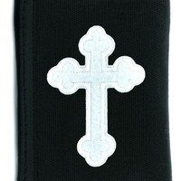Gothic White Cross Tri-fold Wallet w/ Chain Occult Clothing