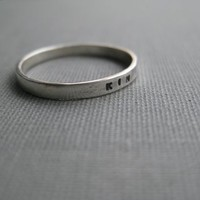 Personalized Ring Simplified Resolution by boutonrougedesigns