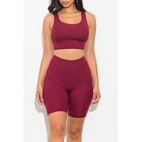 Always Comfy Set Burgundy