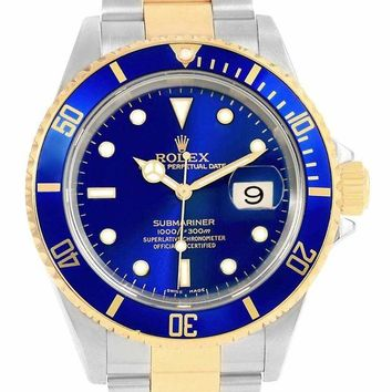 Rolex New fashion submariner automatic-self-wind mens Watch 16613 (Certified Pre-owned)