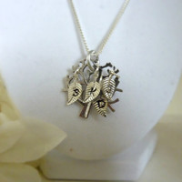 Personalized Family Tree of life necklace Mother Mommy Grandma Necklace Hand stamped jewelry