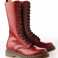 Dr. Martens Women's 1914 14-Eye Leather Boot- Cherry Red