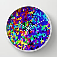 CRYSTAL PARTY Wall Clock by catspaws