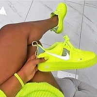 Nike Air Force 1 Af1 Ow Woman Men Running Sport Sneakers Shoes